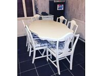 Beautiful French style table and 6 chairs