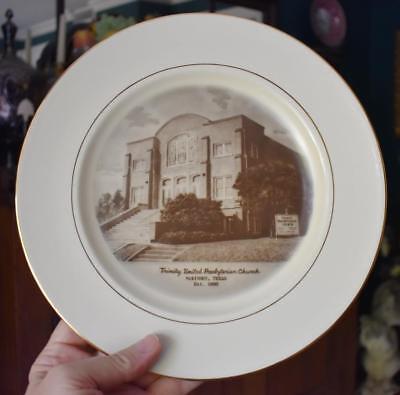 VINT PRESTON HOPKINSON TRINITY UNITED PRESBYTERIAN CHURCH MCKINNEY TEXAS PLATE