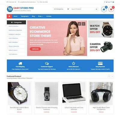 Established Wordpress Premium E-commerce Store W Woo-commerce Yith Wishlist