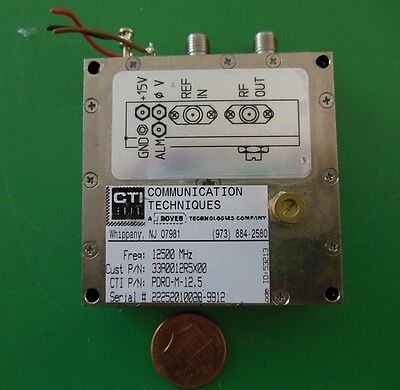 Herley Cti Phase Locked Pdro Precision Oscillator 12500 Mhz 12.5 Ghz Tested