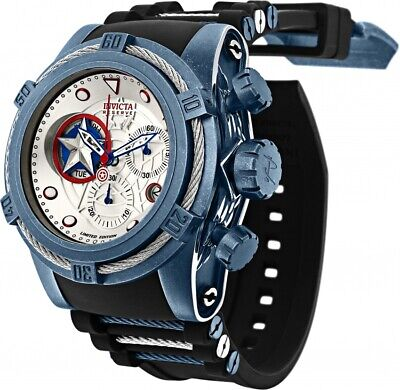 Invicta Marvel Bolt Zeus CAPTAIN AMERICA Limited Edition Swiss Chronograph Watch