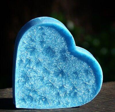 Peppermint Heart - 100hr LIME EUCALYPTUS PEPPERMINT Huge Love Heart CANDLE MELT for Oil Burner GIFT