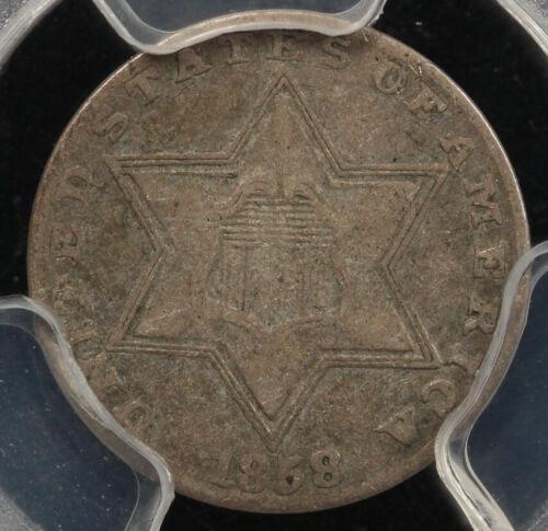 1858 3cs Three Cent Silver Piece PCGS VF 35