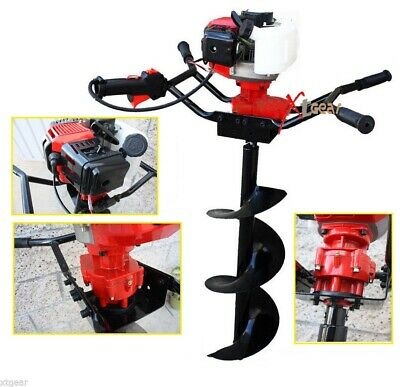 Two Man 52cc Gas Power Fence Post Dirt Hole Digger Driller W12 Auger Drill
