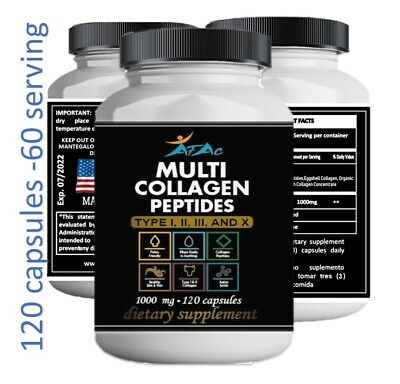 Total Collagen Protein Hydrolyzed Collagen Supplement 60 serving paleo no gmo
