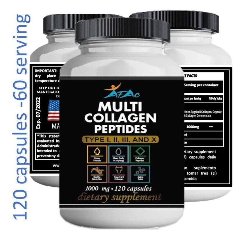 Total Collagen Protein Hydrolyzed Collagen Supplement 60 serving paleo no gmo