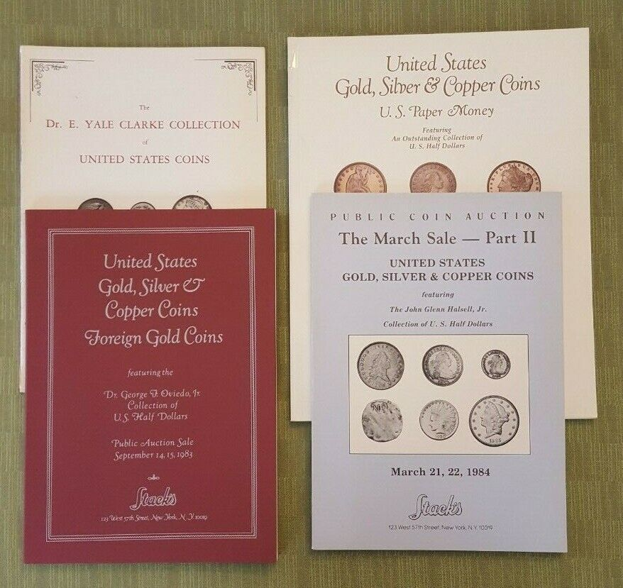 Notable Named Bust Half Dollar Coin Auction Catalogs, Stack s 1975-1989 - $10.00