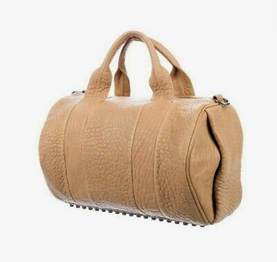 NWT $875 Alexander Wang Rocco Duffel Natural Leather Shoulder Hand Bag