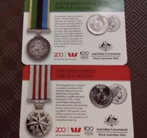 2 x (2017) 100 Years Of Anzac Commemorative Coins in holder
