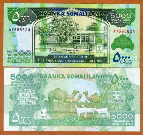 Somaliland, 5000 shillings, 2012, P-21b, UNC