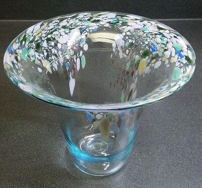1989 Signed Studio Art - Blown Glass Vase