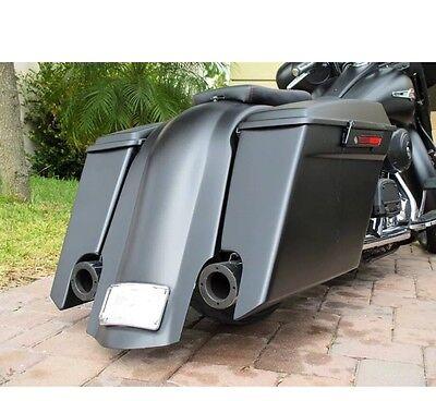 """6"""" stretched saddlebags rear fender for harley davidson touring 1997-2008"""