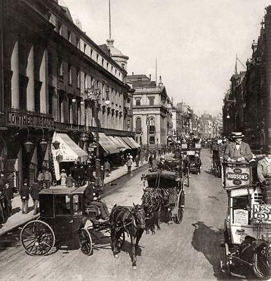 Vintage Strand London Horse & Carriage Black & White 10x8 Print Photo Picture
