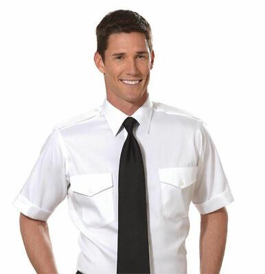 Van Heusen Non-Iron THE AVIATOR Men's S/S Pilot Uniform Shirt-100% Cotton, 15.5 Van Heusen Aviator