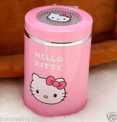 Cute Hello kitty Portable Car Auto Travel Led Light Cigarette Ashtray