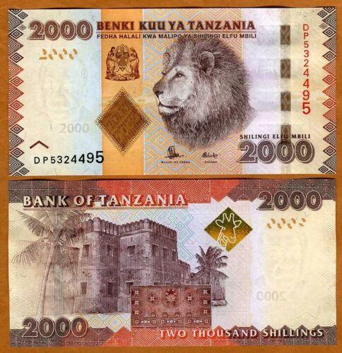Tanzania, 2000 (2,000) shillings, 2010 (2015) P-42b, UNC > Lion