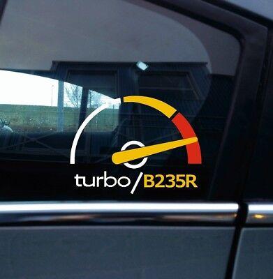 Turbo B235R, boost gauge themed sticker -for Saab 9-5 aero Turbo 2.3 /9-3 viggen