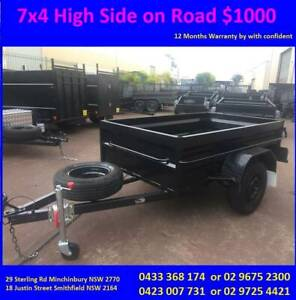 7x4 Box Trailer High Side with 12 months NSW REGO On Road $1000 Smithfield Parramatta Area Preview