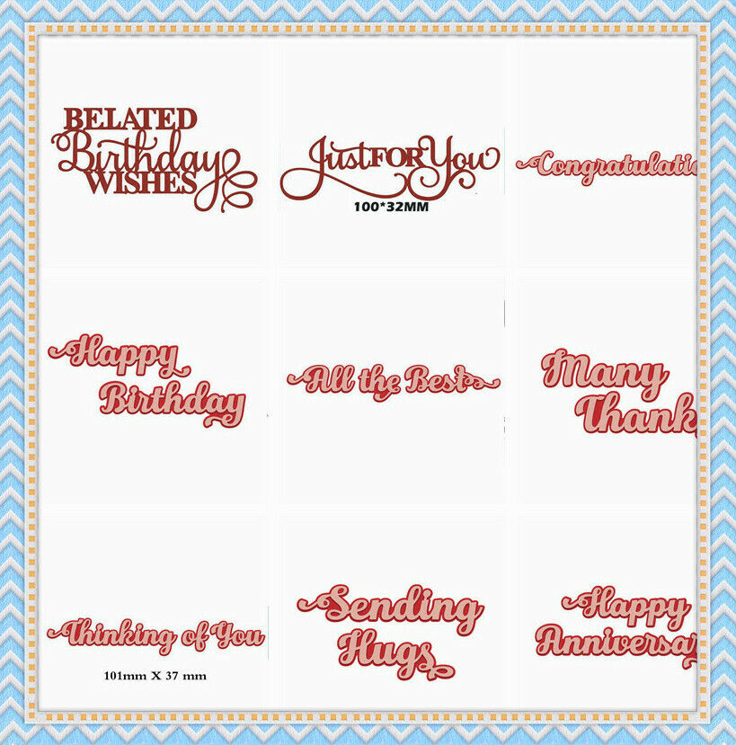 Expressions Best Wishes Greetings Cutting Dies Scrapbooking Embossing Stencil
