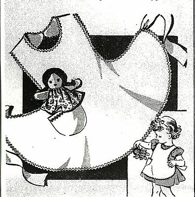 VINTAGE SWEET APRON PATTERN WITH DOLL IN POCKET  MAIL ORDER  CHILD GIRL Apron Patterns Children