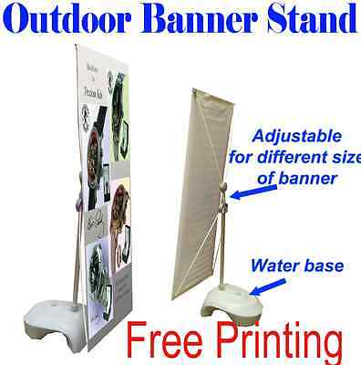 Outdoor Adjustable X Banner Stand W Free Printing Trade Show Display Banner