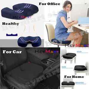 Memory Foam Gel Cushion coccyx seat pillow Office Chair Car seat Stress Relief