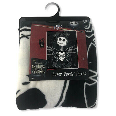 "New Disney Nightmare Before Christmas Jack Skellington Fleece Blanket 46"" x 60"""
