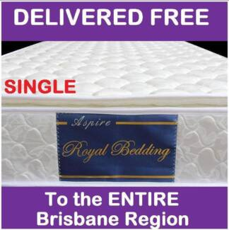 DELIVERED **FREE** SINGLE Pillow Top Mattress - BRAND NEW New Farm Brisbane North East Preview