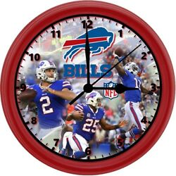 BUFFALO BILLS, 8in. Unique Homemade Wall Clock, Battery Included