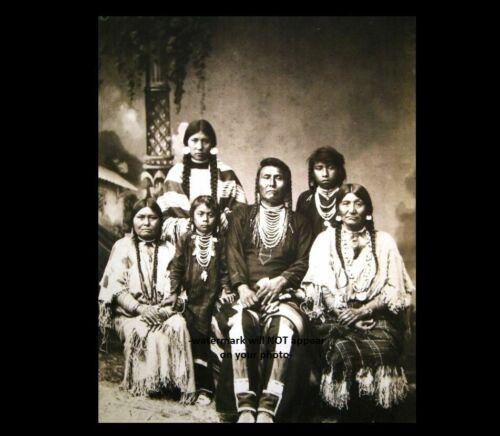 1880 Chief Joseph Family PHOTO Leavenworth Prison Camp Photo. Nez Perce Indian
