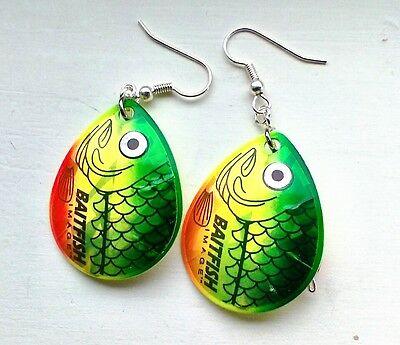 Custom Handmade Jewelry, Fishing Lure Earrings, Bead Jewelry, Jewelry for Women