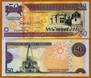 Dominican-Republic-50-Pesos-Dominicanos-2011-P-New-Monetary-Unit-UNC