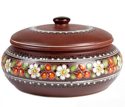 3 L Large Baking Dish Stewing Stoneware Clay Cooking Pot Tureen Made Ukraine