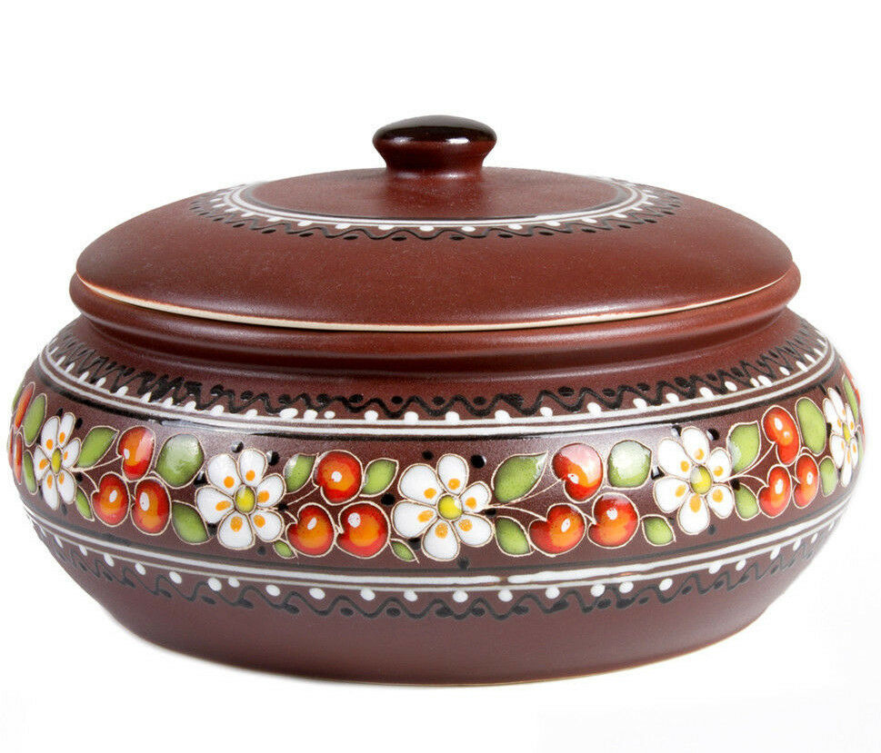 3 L Large Baking Dish Stewing Stoneware Clay Cooking Pot Casserole Made Ukraine