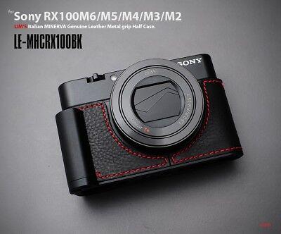 LIM'S Metal Grip Genuine Leather Camera Half Case For Sony RX100 III IV V VI VII