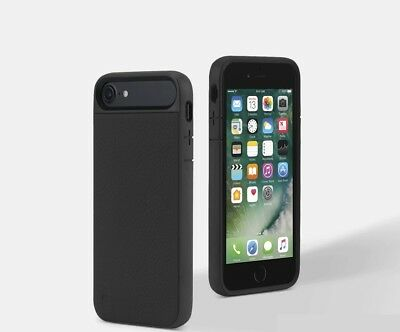 Incase iPhone SE (2020) ICON 2 Pebbled Leather Rugged Case Cover Black/Grey