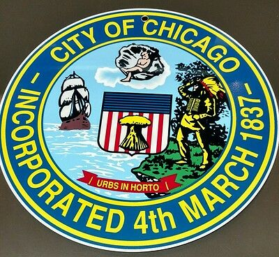 City of Chicago logo sign .. crest insignia