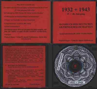Deutsche Aktiengesellschaften Handbuch 1932 1943 Hoppenstedt 14.000 Firmeninfos