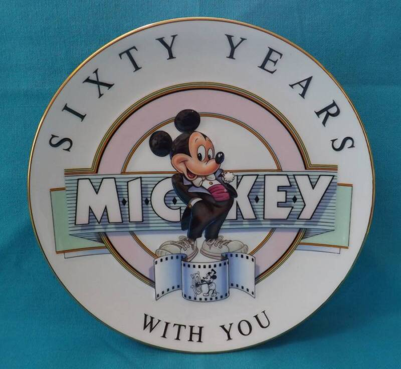 Disney Collection Sixty Years With Mickey Disney Artists Limited Plate 1988