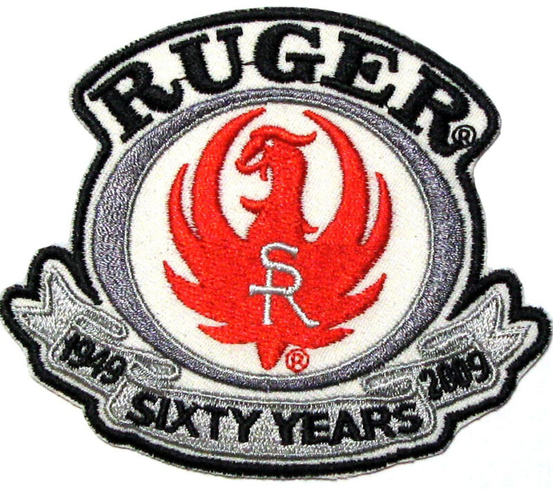 Ruger 1949-2009 Sixty Years Platnium Anniversay Embroidered Patch/Crest/Applique
