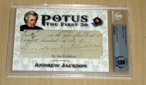 2020 Historic Autographs POTUS First 36 cut auto autograph Andrew Jackson 7th PZ