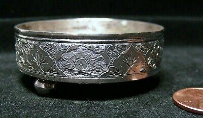Vintage Asian Exquisite Silver Incense Burner/Open Salt Dish - Handmade!