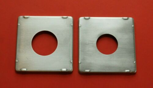Graphic #0 & #1 Brushed aluminum Lens Boards