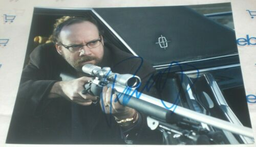 PAUL GIAMATTI SIGNED SHOOT EM UP READY TO FIRE GUN 8X10 PHOTO AUTO COA BILLIONS