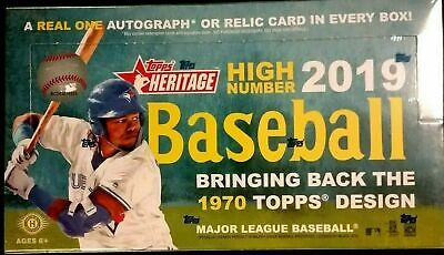 2019 Topps Heritage High Number baseball factory sealed hobby box Tatis Vlad