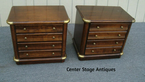 62026  Pair Mahogany Nightstands End Tables Stands