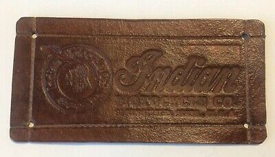 Handmade Leather Indian Motorcycle Rivet On Patch Vintage Style
