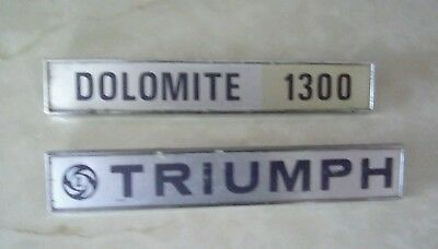 TRIUMPH DOLOMITE 1300 BOOT BADGES x2 all pins intact  JFRAY