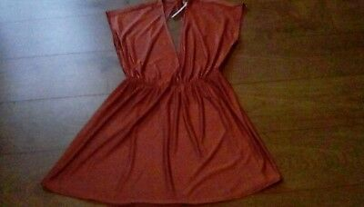 Ladies Asos gold swim cover up summer dress size 12 Eur 40  brand new with tags