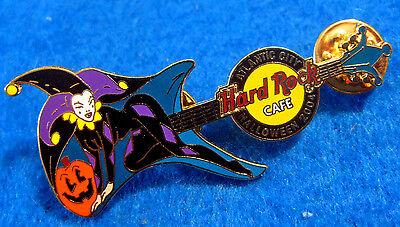 ATLANTIC CITY HALLOWEEN COSTUME SERIES JESTER GIRL GUITAR 04 Hard Rock Cafe PIN](Rock City Halloween)